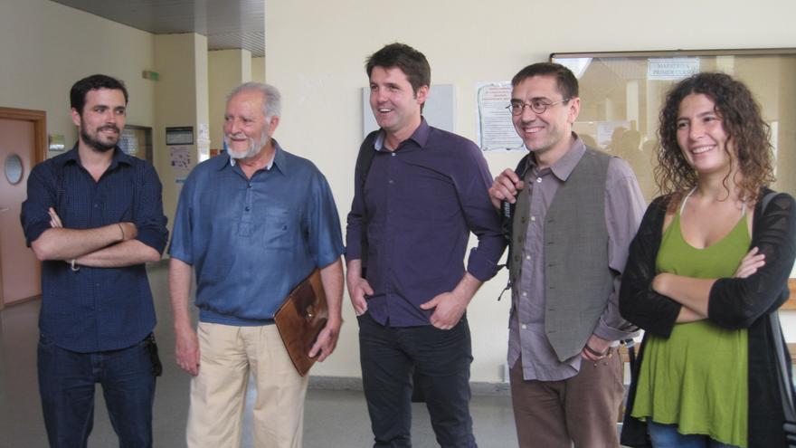 Garzón, Anguita y Monedero debaten sobre la unidad popular para las próximas generales en el II Foro Social de Frente Cívico.