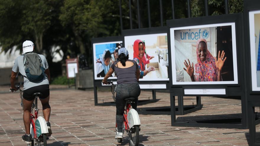 Unicef reclama higiene para niños y jóvenes con una exposición en México