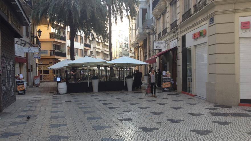 Varias terrazas ubicadas en la plaza Mariano Benlliure.
