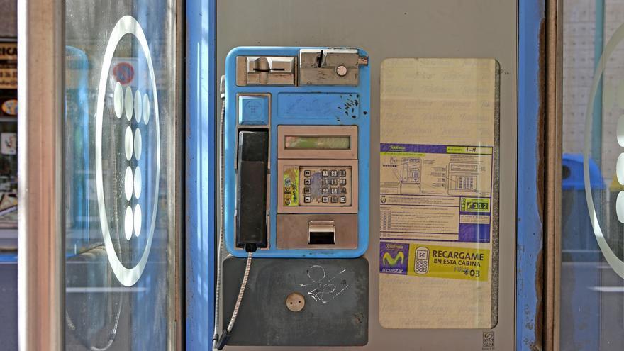 Cabina telefónica en Las Palmas de Gran Canaria