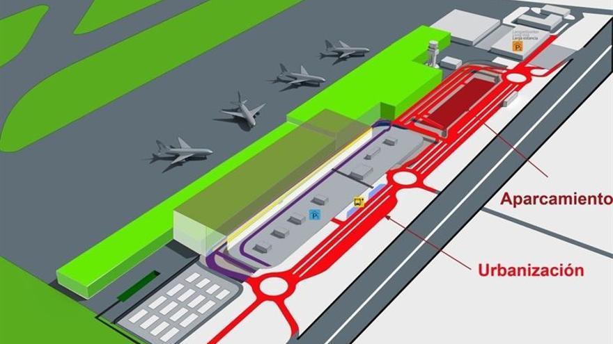 El Aeropuerto grancanario comienza este martes con los trabajos de mejora de los viales de acceso al Edificio Terminal