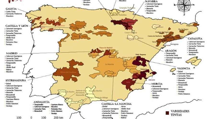 Actual ámbito de estudio del proyecto 'Iberian Future Wines'