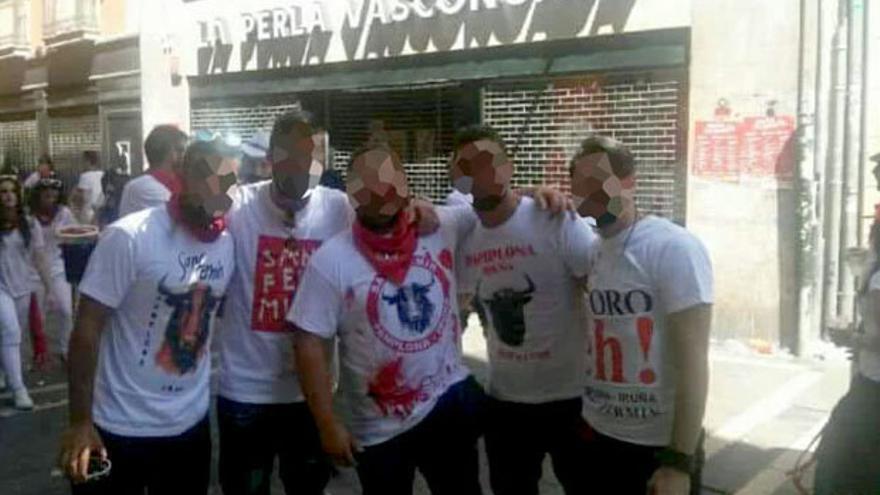 Los cinco acusados de la violación de San Fermín.
