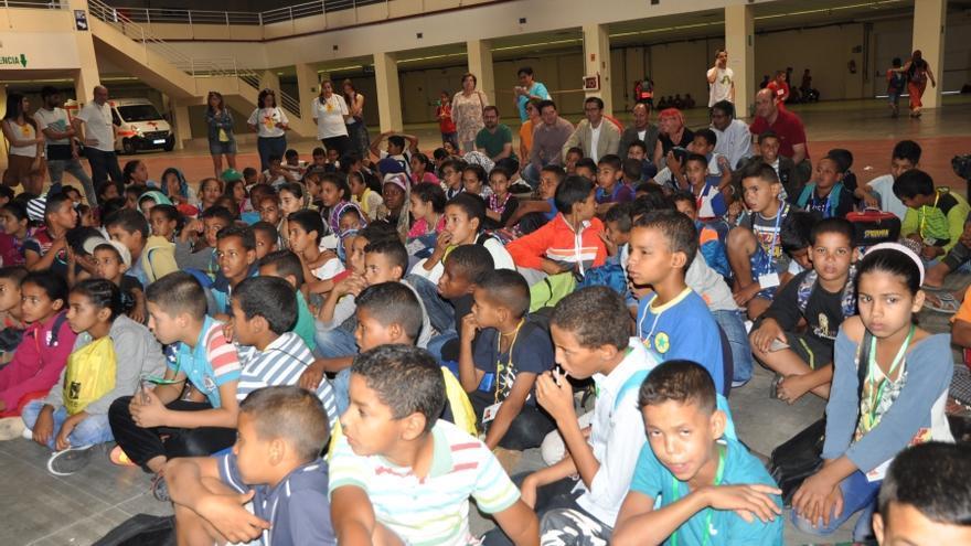 Recepción niños saharauis en Ciudad Real