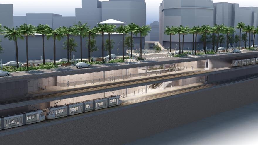 Estación subterránea en la avenida Reino de València