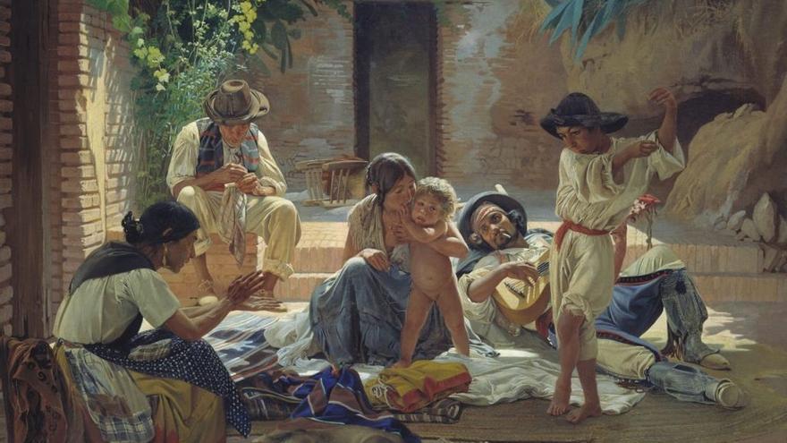 Un grupo de gitanos españoles, de Yevgraf Semyonovich Sorokin