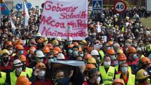 Decenas de miles de personas vuelven a manifestarse este domingo para exigir una solución para Alcoa.