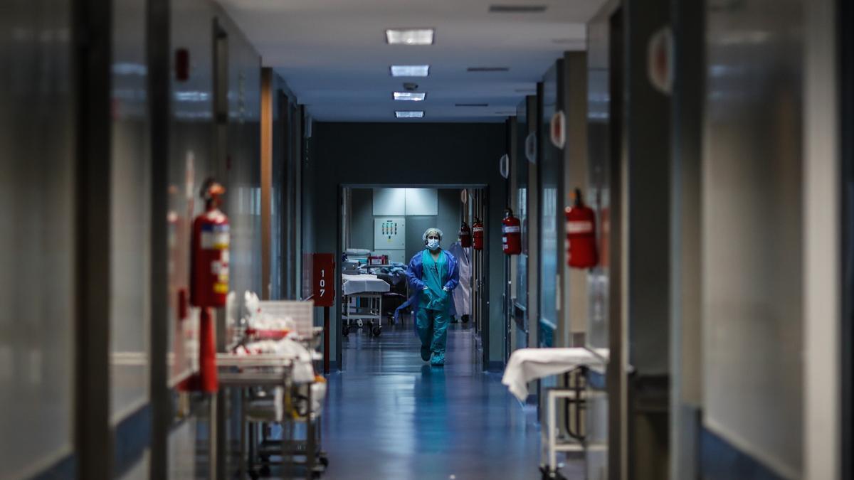 Vista de un hospital.