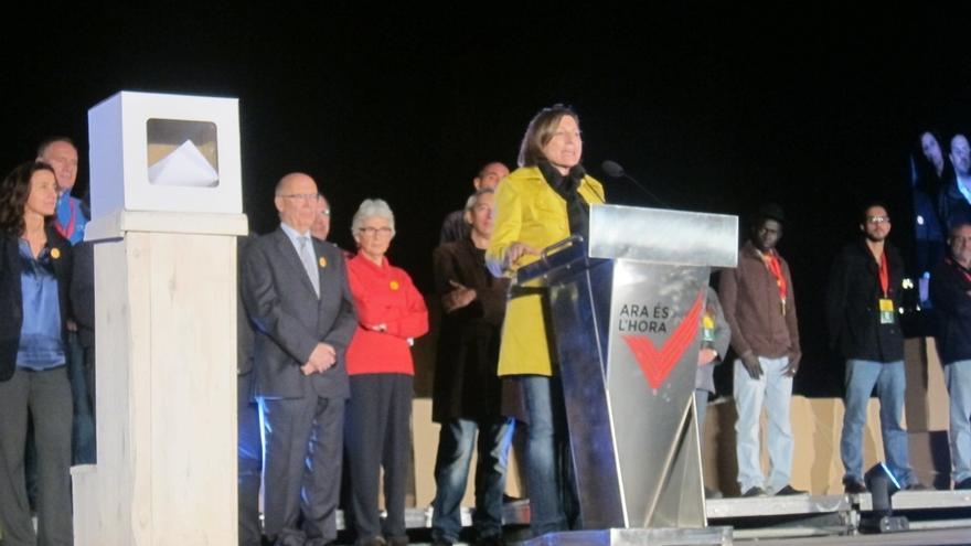 """La ANC y Òmnium llaman a un 9N """"masivo"""" como primer paso hacia la república catalana"""