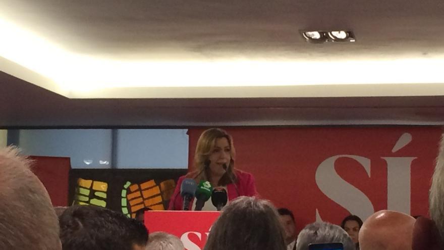 """Susana Díaz acusa a Rajoy de seguir """"mintiendo igual"""" que hace cuatro años"""