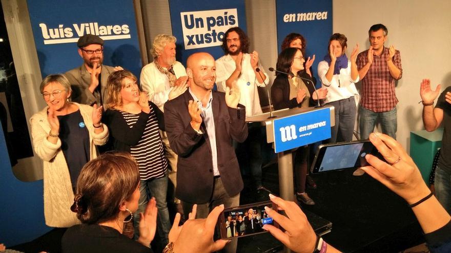 El candidato de En Marea, Luis Villares, tras conocer los resultados.