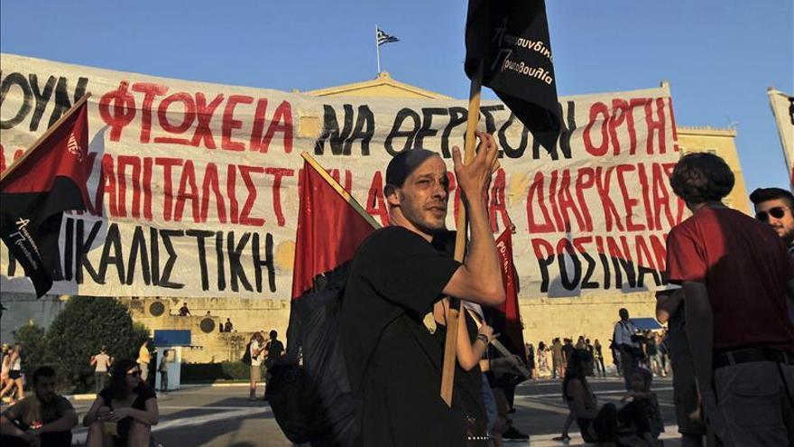 Imagen de una manifestación contra la austeridad en Atenas. / Foto: EFE