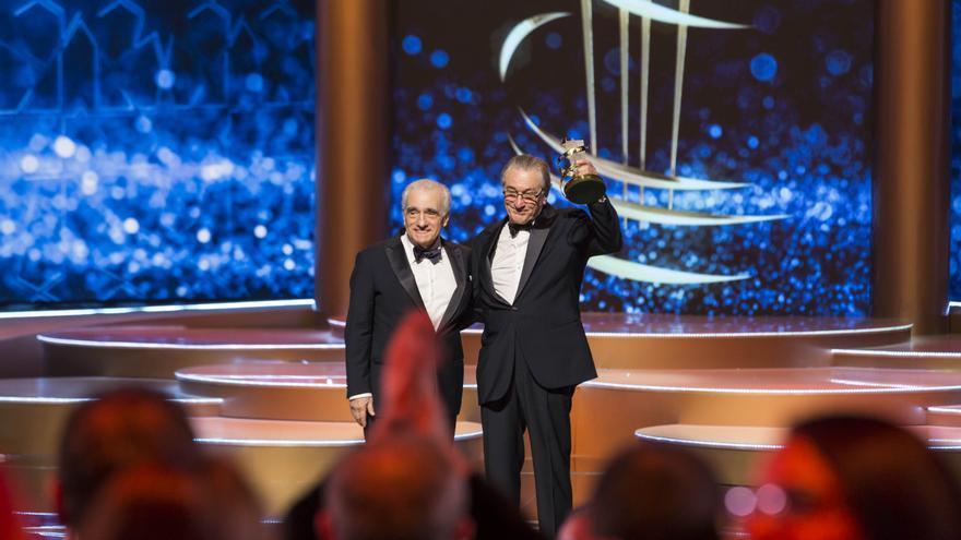 Robert de Niro recibe el homenaje a su carrera en Marrakech, de manos de Martin Scorsese