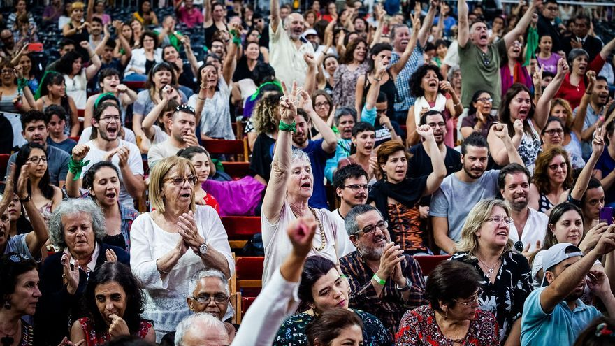 Asistentes al Foro de Pensamiento Crítico en Buenos Aires.