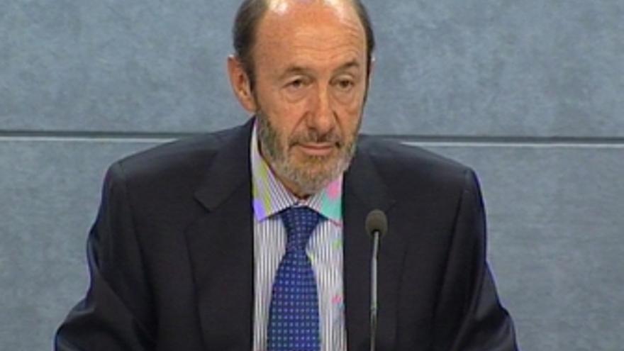 Ministro Rubalcaba rumores tregua de ETA y cooperantes atacados por Israel T