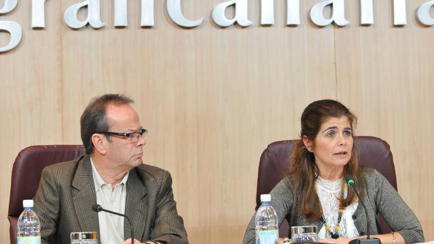 La consejera de Política Territorial del Cabildo de Gran Canaria, Inés Miranda, presenta el presupuesto y las principales líneas de actuación de su departamento para 2016.
