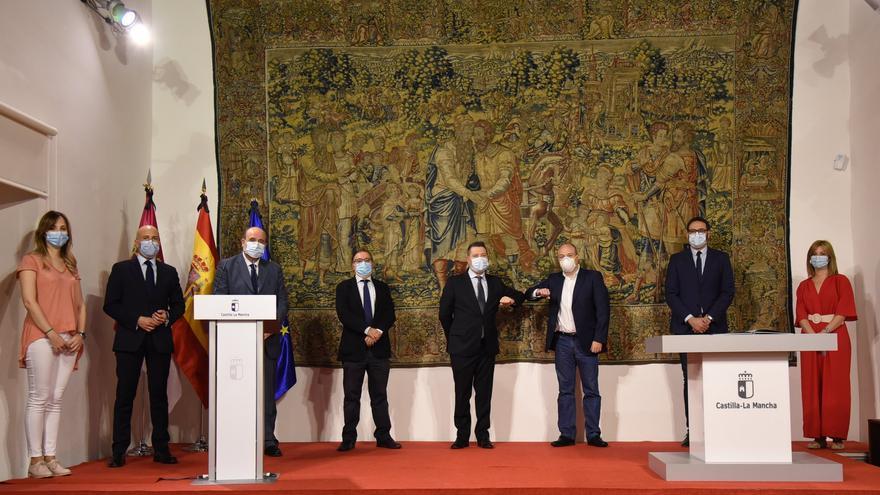 Representantes del Gobierno castellanomanchego, PSOE y Ciudadanos