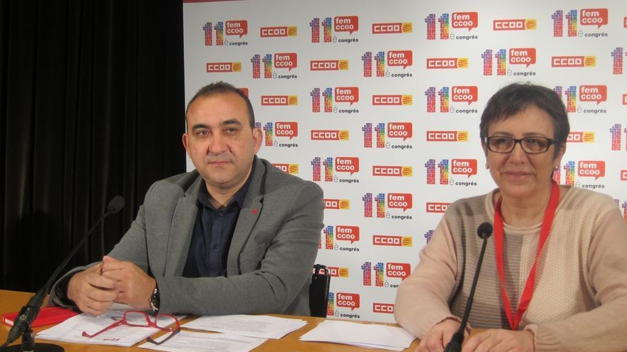 CC.OO. de Cataluña pide un acuerdo para celebrar un referéndum vinculante