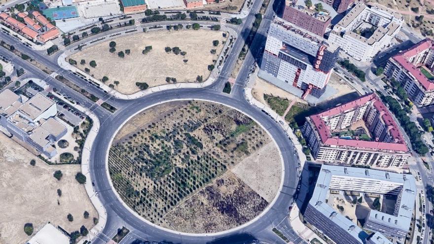 Una de las rotondas de Sanchinarro
