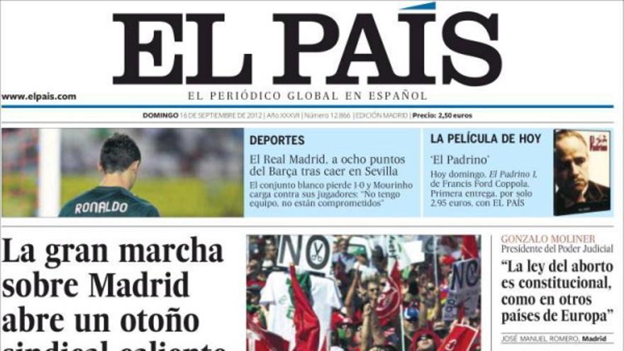 De las portadas del día (16/09/2012) #6