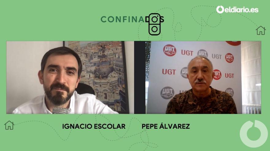 Ignacio Escolar entrevista a Pepe Álvarez, secretario general de UGT.