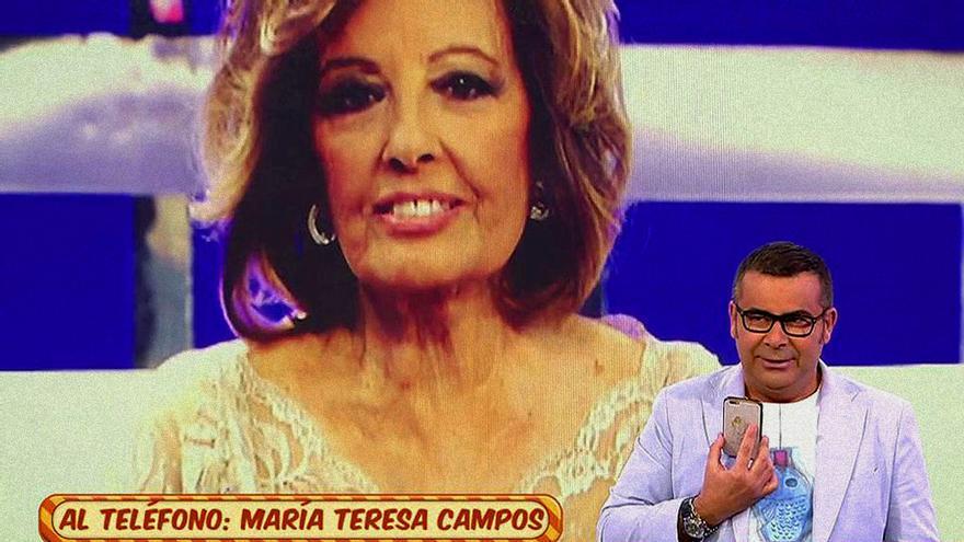 Teresa Campos entra en directo en 'Sálvame'