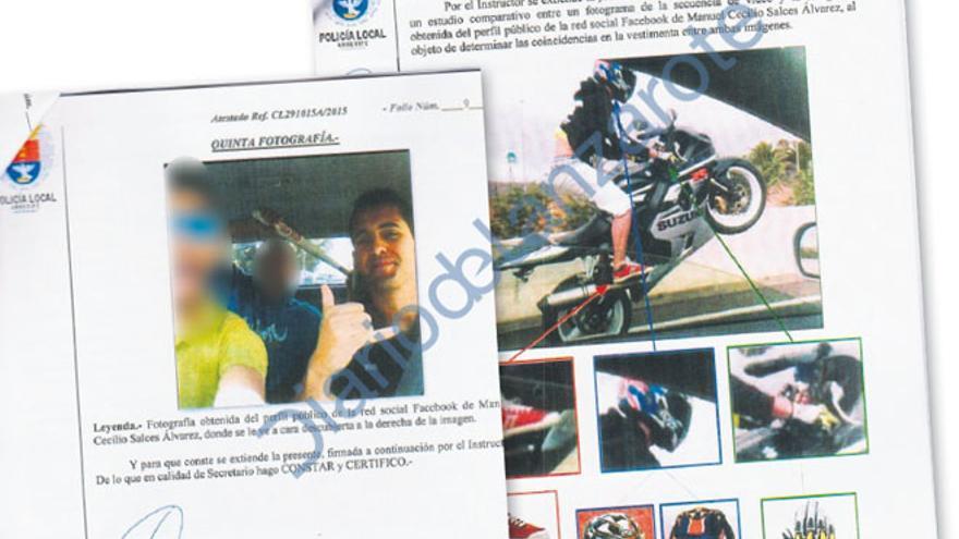 Informe de la Policía Local sobre los autores del 'caballito' en la circunvalación de Arrecife (DIARIO DE LANZAROTE)