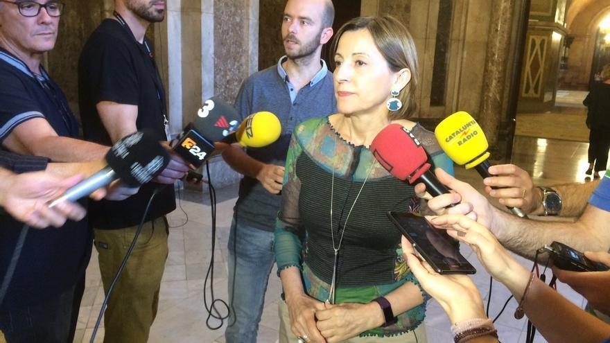 """Forcadell cree que se buscaba """"una escenificación"""" al acudir la Guardia Civil al Parlament"""