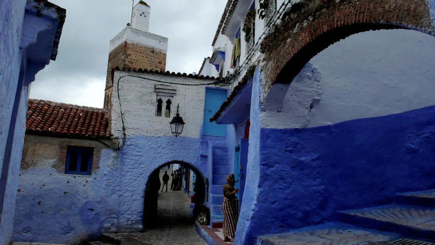 Arcos azules en la medina de Chefchauen. Gabi (CC)