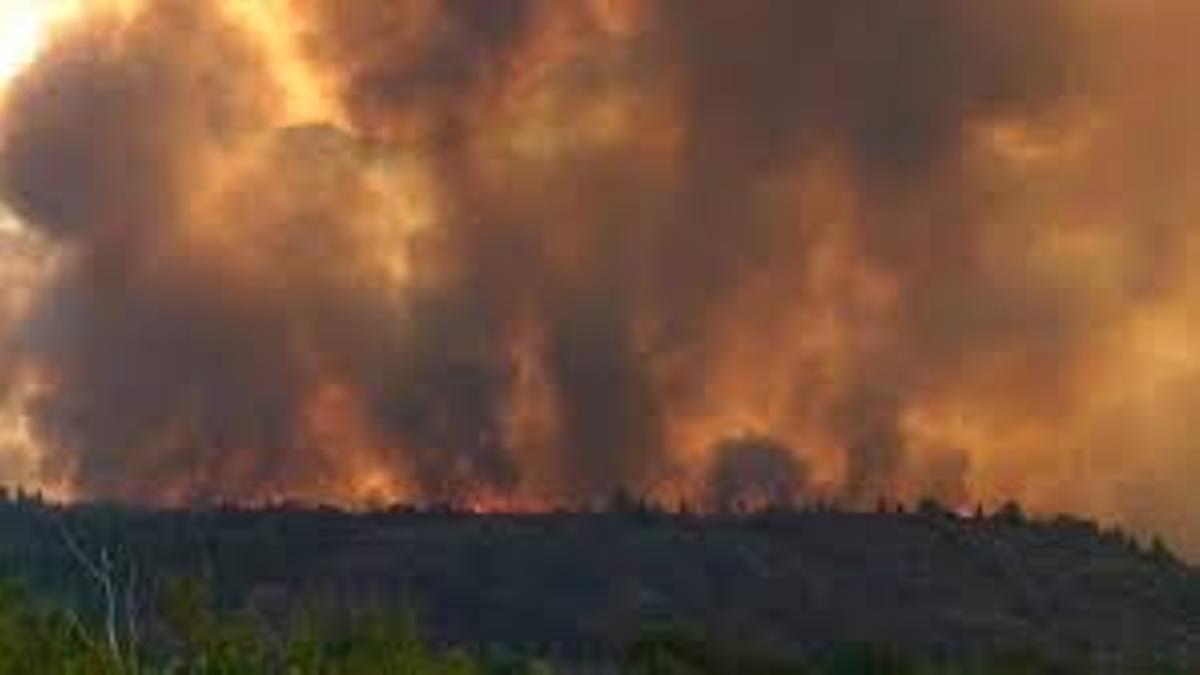 El incendio cercano a El Bolsón comenzó hace dos semanas y ya afecta a más de 8.000 hectáreas.
