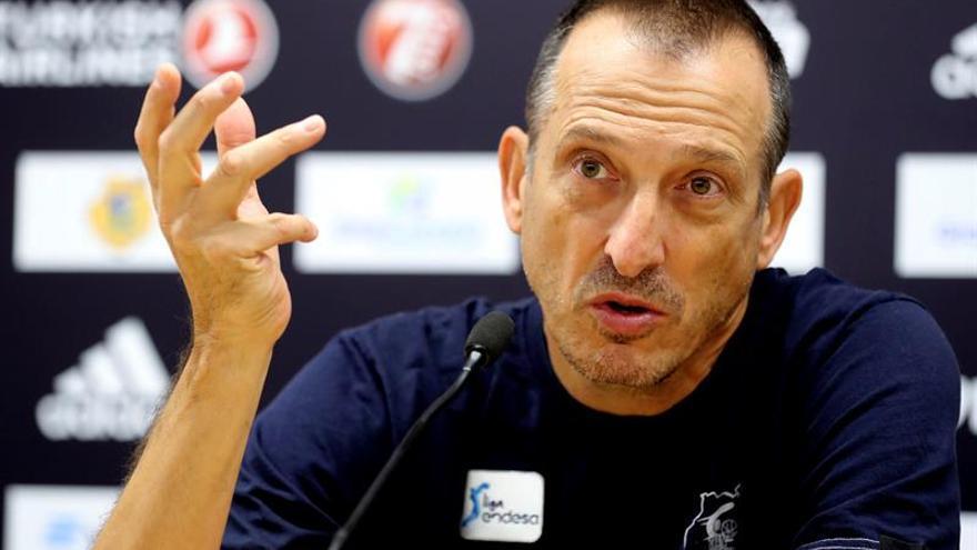 El entrenador del Herbalife Gran Canaria, Salva Maldonado