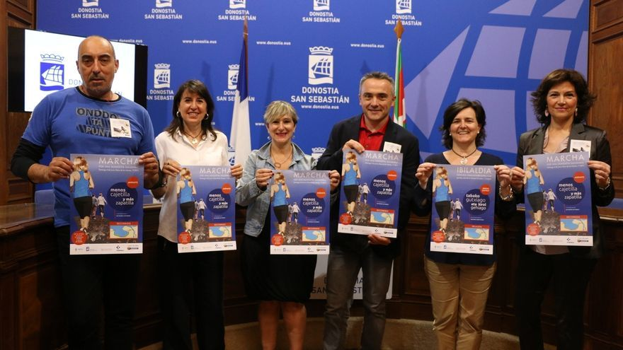 San Sebastián celebrará este domingo la marcha saludable 'Menos cajetilla y más zapatilla'