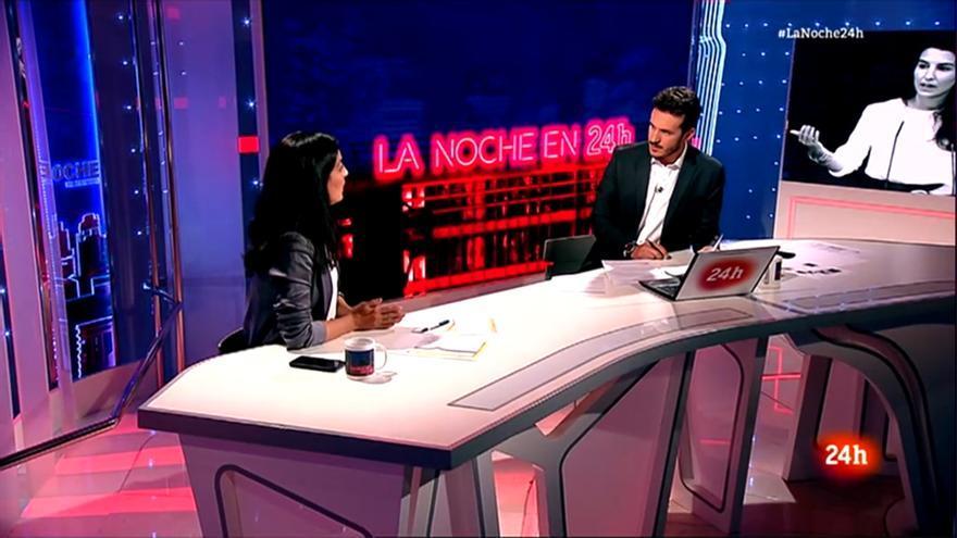 Rocío Monasterio y Diego Losada en 'La noche en 24h'
