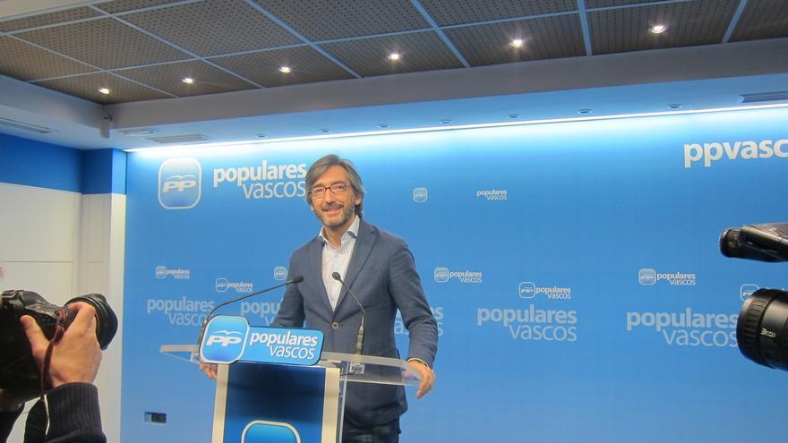 """Oyarzábal (PP) cree que el discurso del PNV está """"bastante alejado todavía"""" como para apoyar los PGE"""