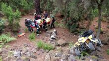 Una madre y su hijo, heridos tras precipitarse con un quad por la ladera de un monte en Tenerife