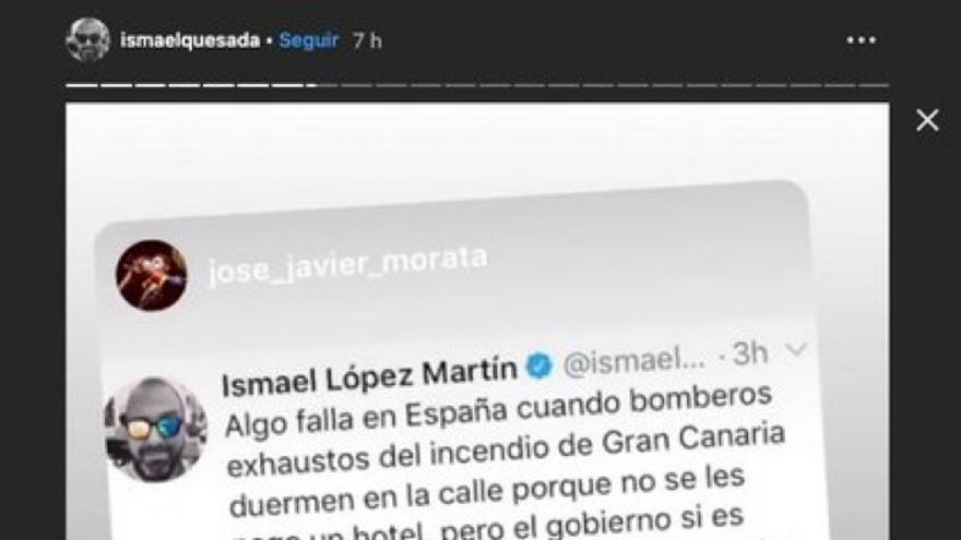 Ismael López alardea del éxito obtenido por su publicación.
