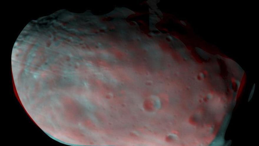 ExoMars pone a prueba su satélite TGO con imágenes de la luna marciana Phobos