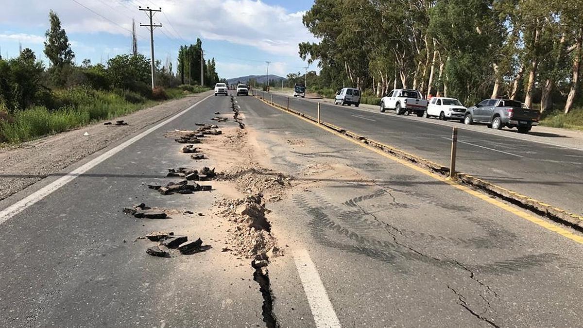 Imagen de las consecuencias del terremoto del 18 de enero de 2021 en San Juan.