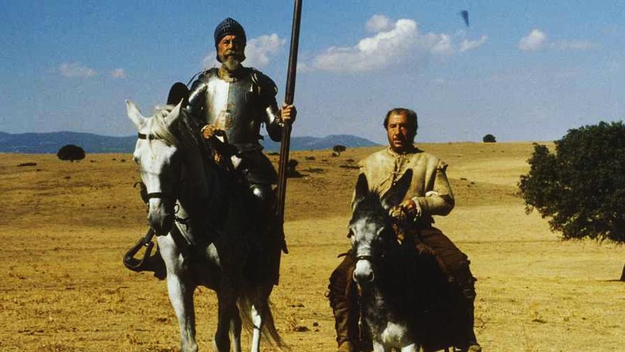 Fernando Rey y Alfredo Landa en 'El Quijote'