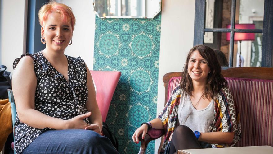 Irene Adiego (izqda) y María Palacín (dcha). Foto: Juan Manzanara
