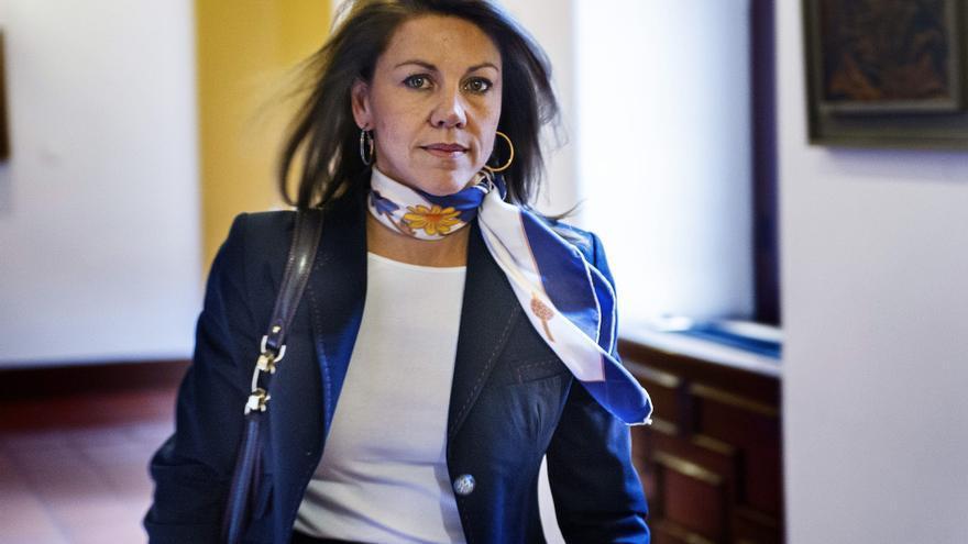 Cospedal ganó 158.000 euros netos en 2011, según su declaración de bienes. / Efe