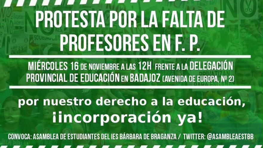 IES Barbara Braganza Badajoz protesta