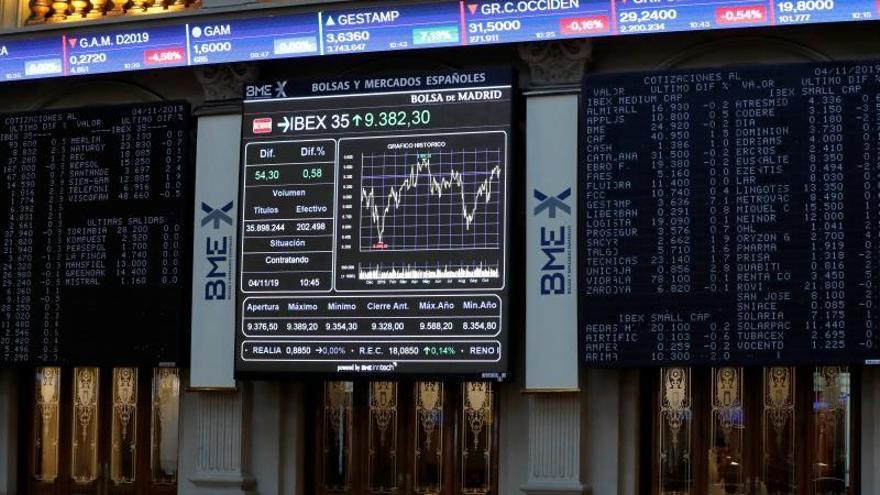 La Bolsa española duda en la apertura afectada de nuevo por la banca