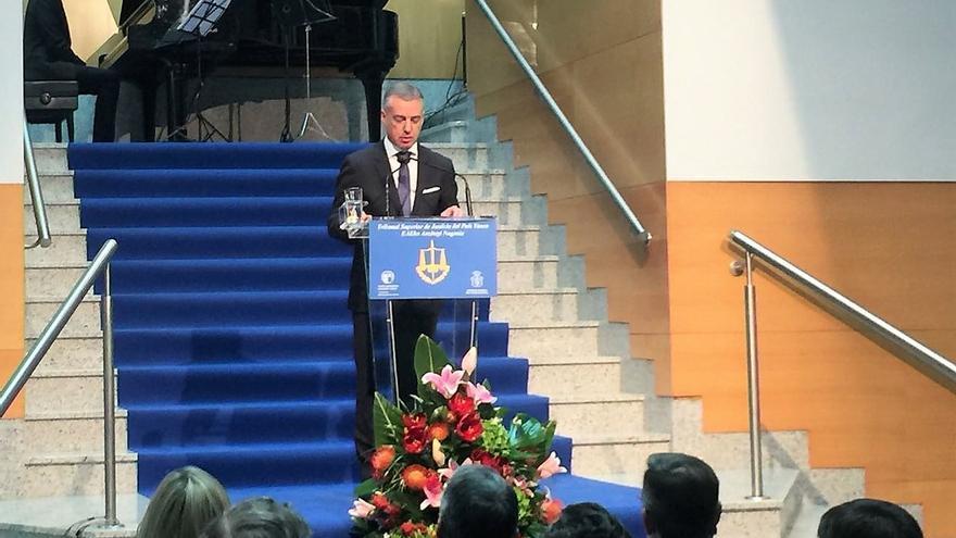 El lehendakari, durante su intervención en la apertura del Año Judicial.
