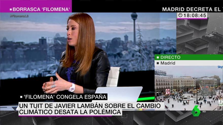 Isabel Zubiaurre en el especial informativo de 'laSexta Noticias' con motivo de la nevada