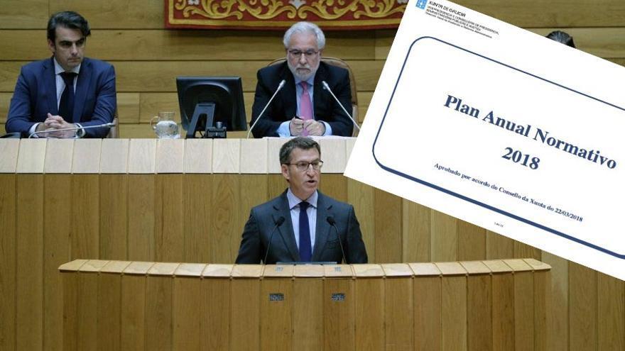 Feijóo sólo ha remitido al Parlamento una de las doce leyes que prometió para 2018