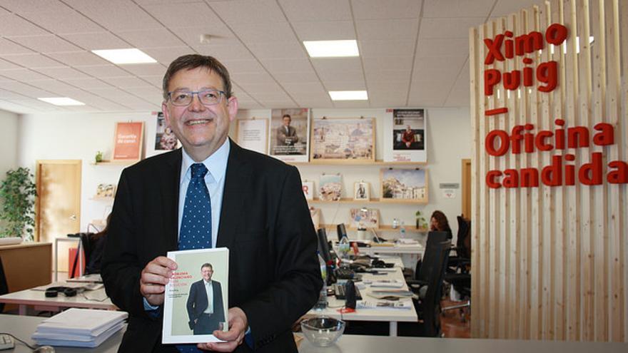 Ximo Puig, en la presentación de su libro.