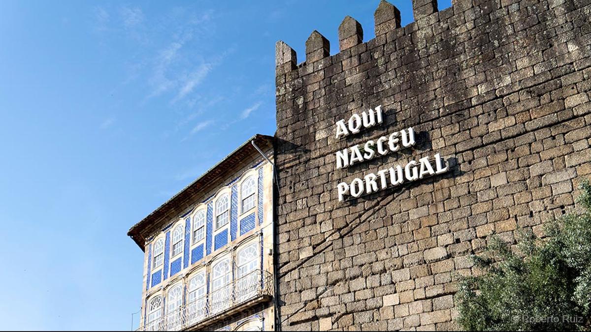 """""""Aquí nació Portugal""""."""