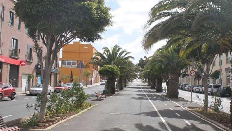 Tramo de la avenida de Los Majuelos, en una imagen de archivo