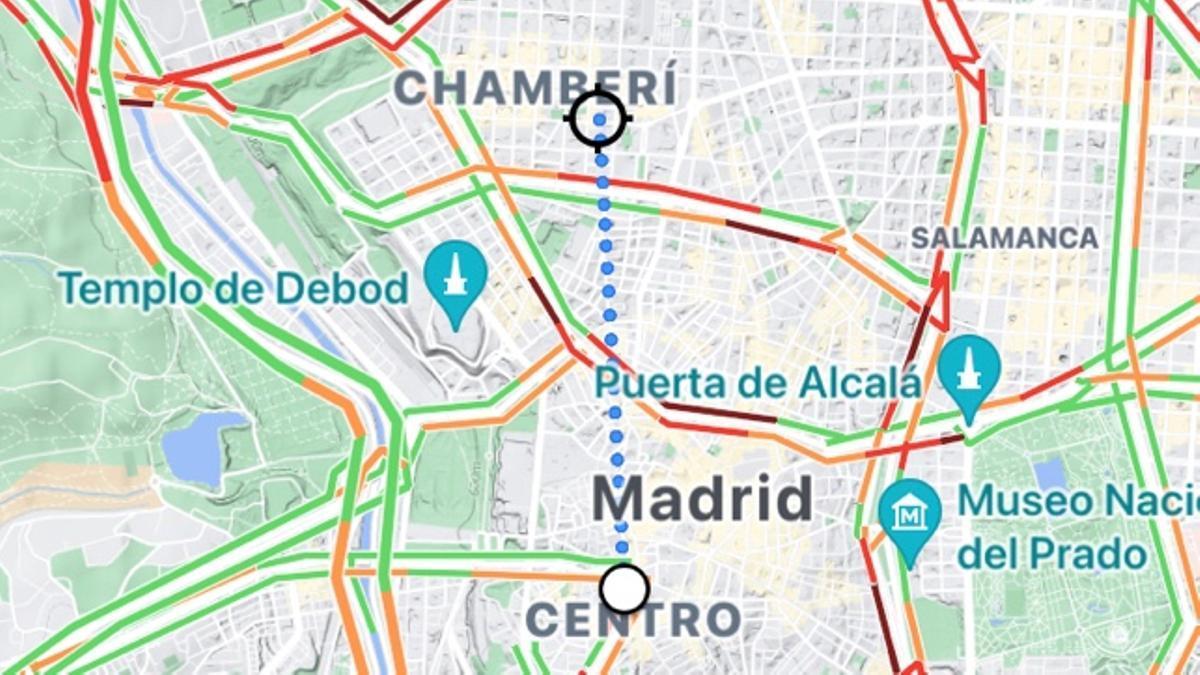 Distancia entre dos puntos en Google Maps